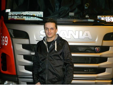 """She purrs like a cat."" Cristian Vlad with his Scania R440, Euro 6"